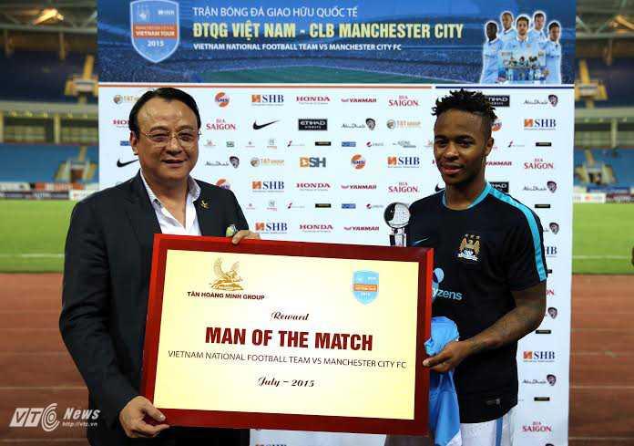 Sterling hay nhất trận Việt Nam-Man City (Ảnh: Quang Minh)