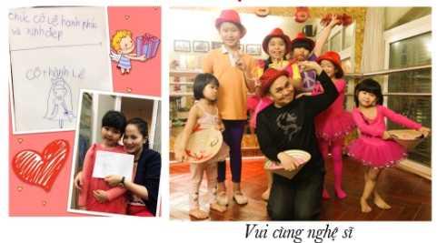 Nghệ sĩ hài Xuân Hinh cùng các học viên nhí của KienQuyet Studio