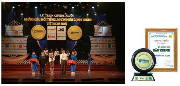 Đại diện Công ty dược phẩm Hoa Linh lên nhận giải