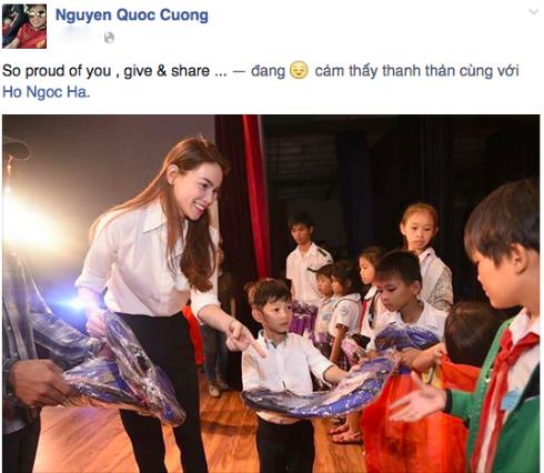 Cường Đô la hãnh diện về Hà Hồ.
