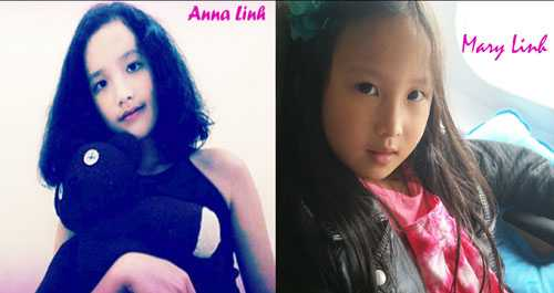 Con gái lớn Anna Linh và con út Mary Linh của Linh Nga.