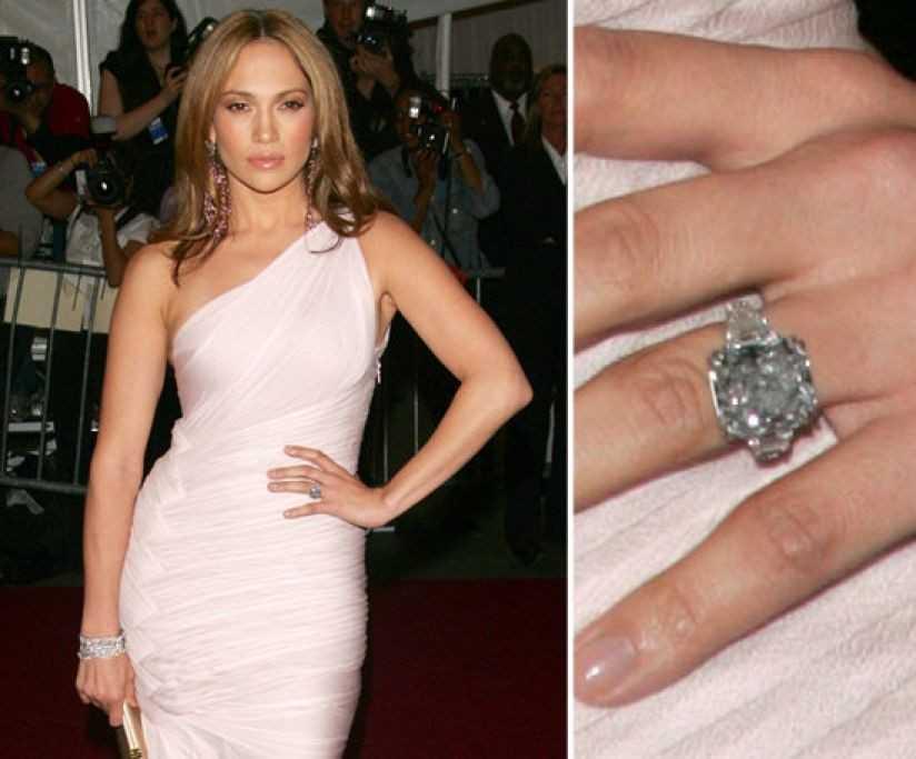 Jennifer Lopez - 4 triệu USD. Nàng Jen từng kết hôn với rất nhiều nhân vật nổi tiếng thế giới như Sean Combs hay Ben Afleck. Tuy nhiên, đáng nhớ nhất có lẽ là cuộc hôn nhân với ca sĩ, diễn viên Marc Anthony - người tặng cho cô chiếc nhẫn hiệu Neil Lane 8,5 carat và giá trị tới 4 triệu USD