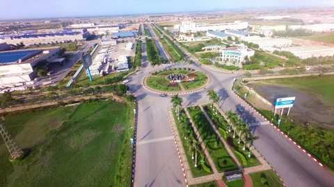 KCN Yên Phong có hệ thống hạ tầng đồng bộ, đáp ứng tốt những yêu cầu của nhà đầu tư
