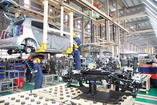 Chi phí sản xuất giảm cùng với việc gia tăng số lượng nhà máy  sản xuất linh kiện phụ tùng nội địa hóa (lên tổng cộng 23 nhà máy) dẫn đến tỷ suất lợi nhuận trong sản xuất  đạt 10% tăng 3%.