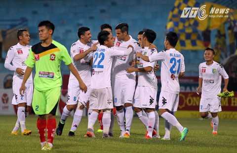 Hà Nội T&T vào chơi trận chung kết cúp Quốc gia (Ảnh: Quang Minh)