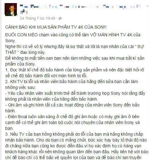 Ảnh chụp Facebook của khách hàng Tuấn Đoàn