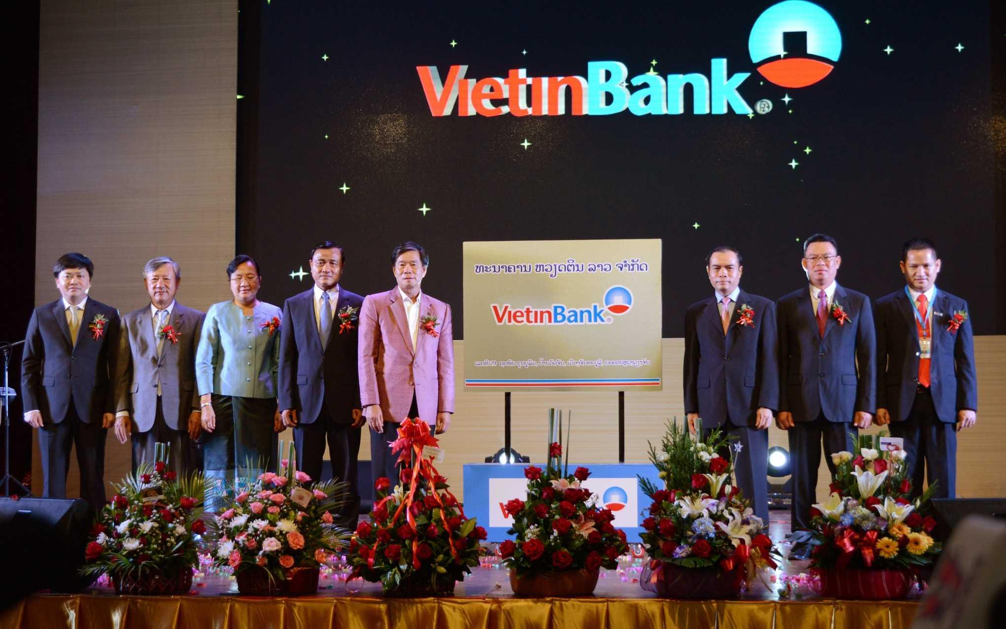 Lễ khai trương ngân hàng TNHH công thương Việt Nam tại Lào