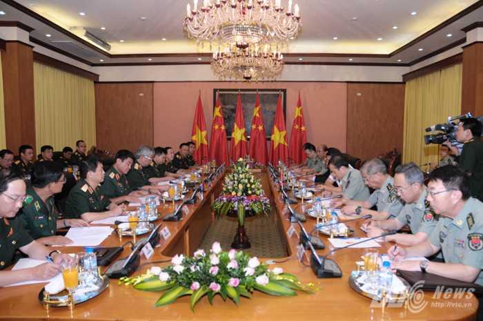 Bên cạnh đó là tạo sự tin cậy, thu hẹp bất đồng, phát huy tương đồng nhằm thúc đẩy quan hệ giữa quân đội và nhân nhân 2 nước - Ảnh: Tùng Đinh
