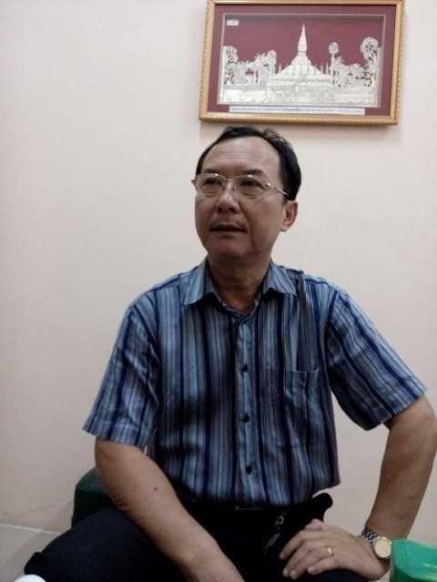 Ông Phạm Xuân Quang, phó giám đốc Liên đoàn Xiếc Việt Nam trả lời phỏng vấn Ảnh: Cù Hiền-Nguyễn Thanh