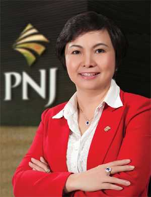 Bà Cao Thị Ngọc Dung – Chủ tịch HĐQT kiêm Tổng giám đốc CTCP Vàng bạc đá quý Phú Nhuận (PNJ)
