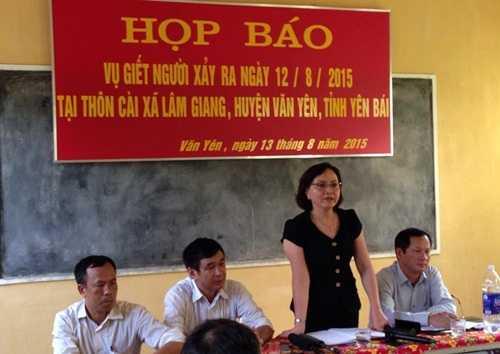 Chủ tịch tỉnh Yên Bái Phạm Thị Thanh Trà