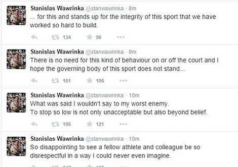 Wawrinka chỉ trích đối thủ