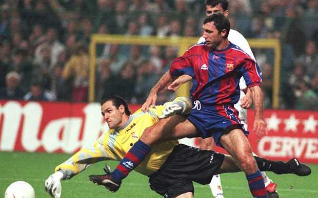 Hristo Stoichkov trong màu áo Barcelona