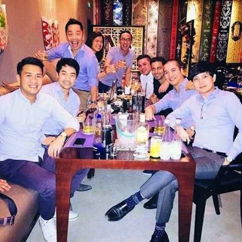 Trung Tín có quan hệ rộng, khá thân với anh em nhà chồng Tăng Thanh Hà