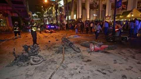 Cảnh sát Thái Lan nói ít nhất 3 kg thuốc nổ TNT đã được dùng trong vụ đánh bom