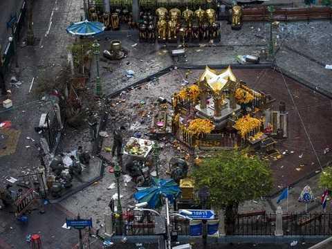 Hiện trường vụ đánh bom chấn động thủ đô Bangkok, Thái Lan