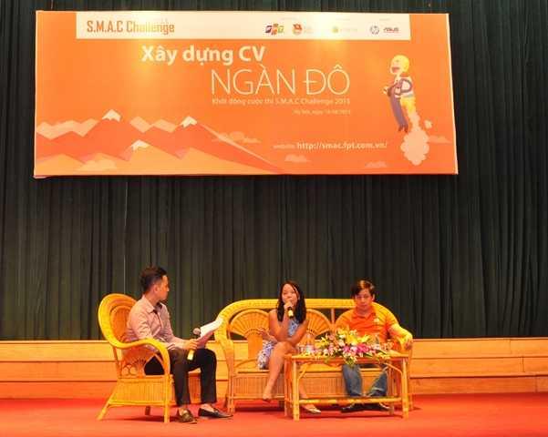 Buổi giao lưu có sự góp mặt của 2 diễn giả diễn giả Ngô Thùy Ngọc Tú và Lê Hồng Việt.