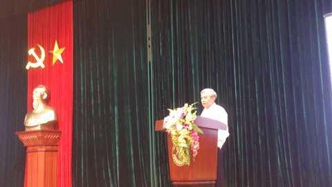 Ông Nguyễn Quân- Bộ trưởng Bộ Khoa học và Công nghệ phát biểu tại Hội nghị