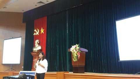 Bà Thạch Lê Anh- chủ nhiệm đề án