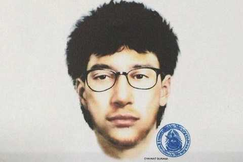 Hình ảnh phác họa chân dung nghi phạm đánh bom Bangkok