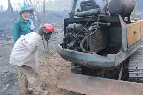 Nguyên nhân xảy ra vụ cháy do chập điện từ xe khai thác gỗ