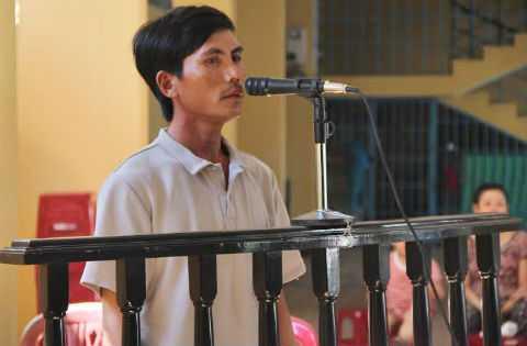 Huỳnh Ngọc Lộc tại phiên tòa. Ảnh: Báo Đà Nẵng