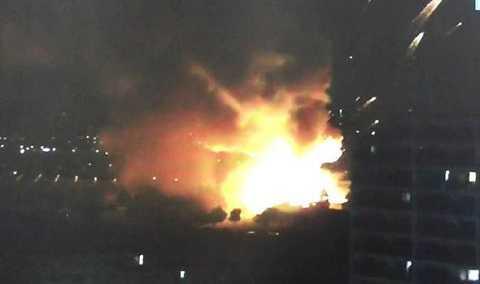 Vụ nổ xảy ra gần khu dân cư tuy nhiên chưa có báo cáo về số người thương vong