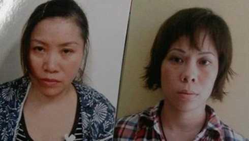 Phạm Thị Nguyệt (trái) và Nguyễn Thị Thanh Trang