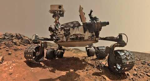 Bức ảnh 'tự sướng' của tàu vũ trụ Rover Curiosity trên vách đá bề mặt sao Hỏa