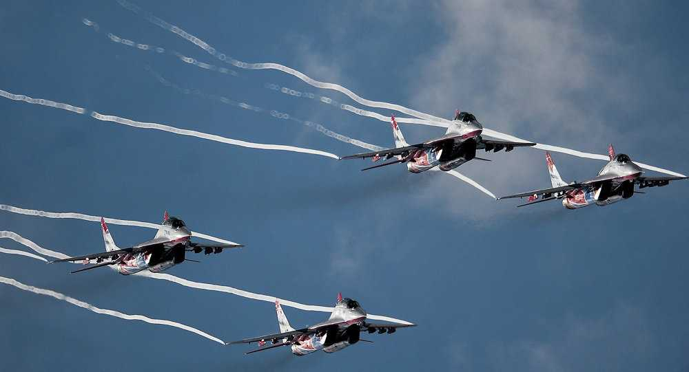Các chiến cơ Nga tham dự triển lãm