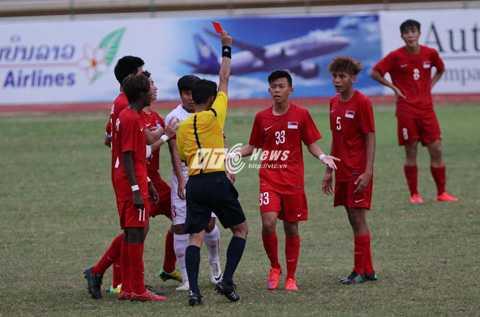 U19 Singapore thiệt quân (Ảnh: Vân Hà)