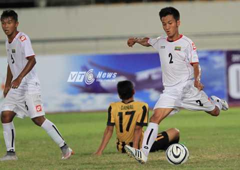 U19 Myanmar không gây ấn tượng mạnh như 1 năm về trước (Ảnh: Vân Nga)