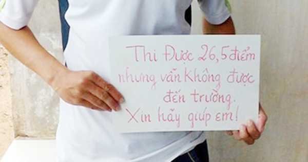 Thí sinh Trần Văn Sâm đã được ĐH Y dược Cần Thơ đồng ý tiếp nhận  (Ảnh: PL.TPHCM)