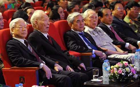 Tổng Bí thư Nguyễn Phú Trọng, nguyên Chủ tịch nước Lê Đức Anh tới dự