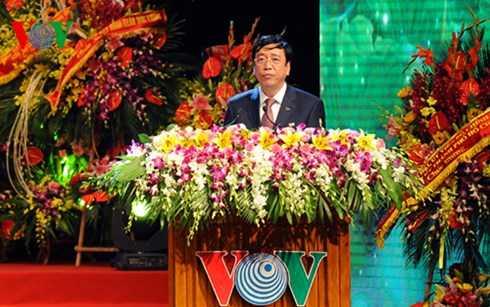 Tổng Giám đốc VOV Nguyễn Đăng Tiến đọc diễn văn tại buổi lễ