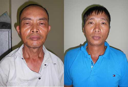 Hai đối tượng Dương Công Ích, 54 tuổi và Đỗ Văn Dân, 43 tuổi