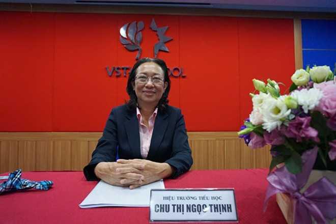 Cô hiệu trưởng trường Vstar - Ảnh: Tuổi Trẻ.