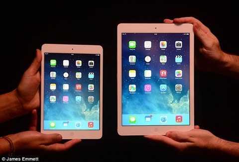 iPad Pro với kích thước màn hình lớn hơn đáng kể so với mẫu iPad Air 2