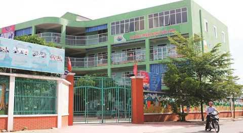 Trường Mầm non Tuổi Thơ nơi cháu Hồ Minh N. đã từng học
