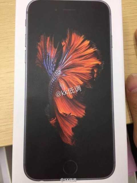 Hộp đựng được cho là của iPhone 6S