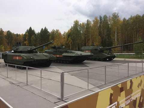 Siêu phẩm xe tăng Armata của Nga có mặt trong triển lãm
