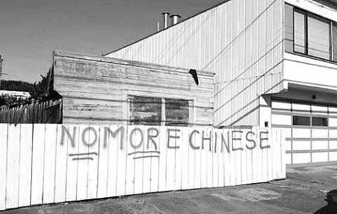 Một bức tranh tường kỳ thị người Trung Quốc ở Mỹ