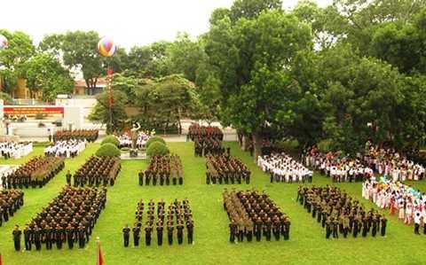 Quang cảnh lễ khai giảng Học viện Quân y năm học 2015-2016.