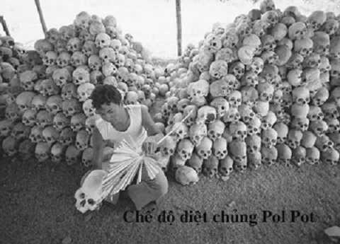 Tội ác Khmer Đỏ (Ảnh tư liệu)