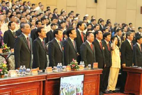 Các đồng chính lãnh đạo Đảng, Nhà nước, lãnh đạo tỉnh dự Đại hội.