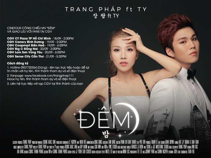 Trang Pháp, TY góp giọng trong single Đêm