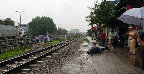 Hiện trường một vụ tai nạn giao thông đường sắt ở Hà Nội hồi đầu tháng 9