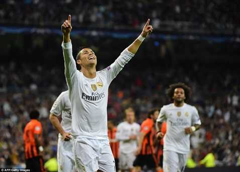 Ronaldo độc chiếm ngôi vị dẫn đầu bảng xếp hạng những chân sút tốt nhất Champions League
