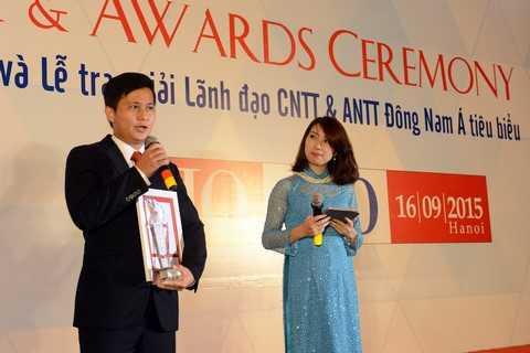 Ông Trần Công Quỳnh Lân phát biểu tại Lễ trao giải.