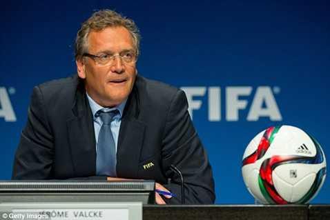 Tổng thư ký FIFA Jerome Valcke bị đình chỉ công tác từ ngày 17/9